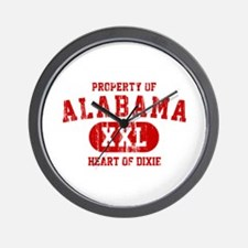 Property of Alabama, Heart of Dixie Wall Clock