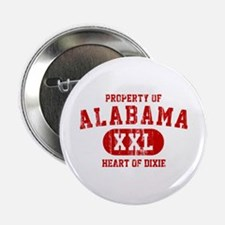 "Property of Alabama, Heart of Dixie 2.25"" Button"