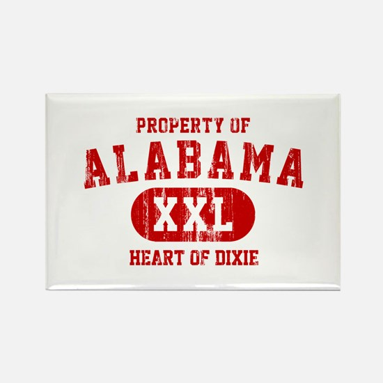 Property of Alabama, Heart of Dixie Rectangle Magn