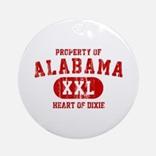 Property of Alabama, Heart of Dixie Ornament (Roun