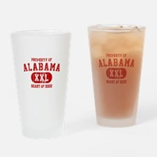 Property of Alabama, Heart of Dixie Drinking Glass