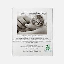 I am an Animal Rescuer Throw Blanket
