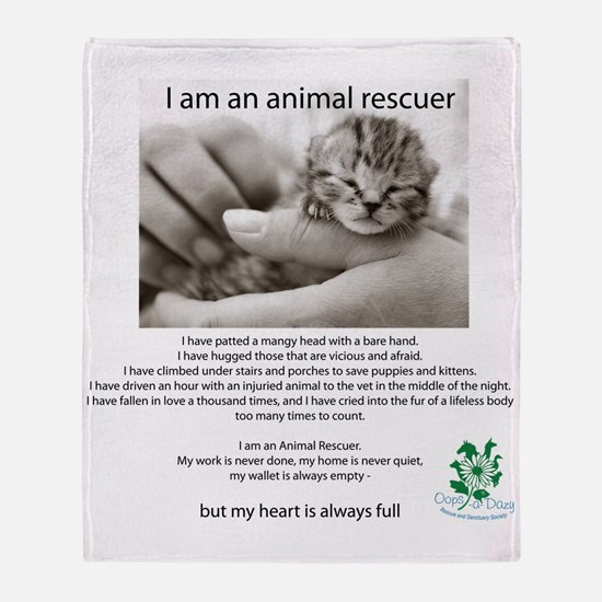 I am an Animal Rescuer Throw Blanket