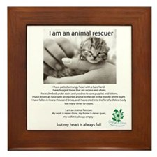 I am an Animal Rescuer Framed Tile