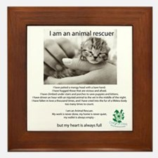 I am an Animal Rescuer Framed Tile