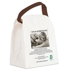 I am an Animal Rescuer Canvas Lunch Bag