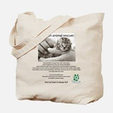 I am an Animal Rescuer Tote Bag