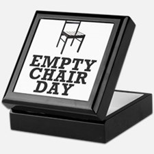 Empty Chair Day. I support Clint Keepsake Box