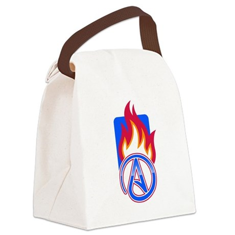 Atheist Sport Flame Canvas Lunch Bag