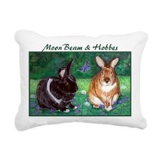 moonbeam and hobbes Rectangular Canvas Pillow