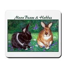 Moonbeam and Hobbes Mousepad