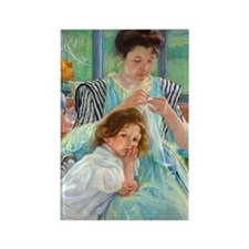 Cassatt - Sewing Rectangle Magnet