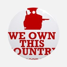We Own This County - Clint Eastwood Ornament (Roun