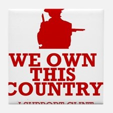 We Own This County - Clint Eastwood Tile Coaster
