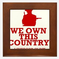 We Own This County - Clint Eastwood Framed Tile