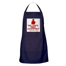 We Own This County - Clint Eastwood Apron (dark)