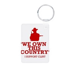 We Own This County - Clint Eastwood Aluminum Photo