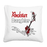 Rockstar Daughter copy.png Square Canvas Pillow