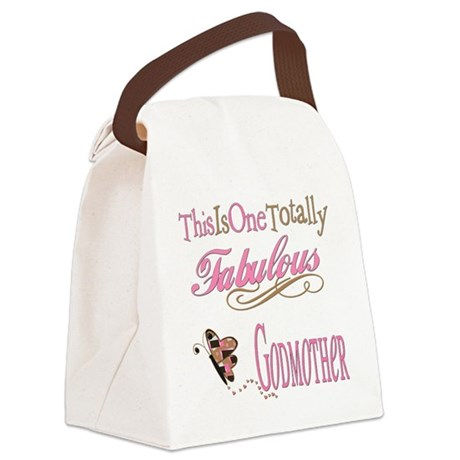 FabPinkBrowngodmother.png Canvas Lunch Bag