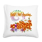 Amazing sister copy.png Square Canvas Pillow