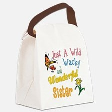 wildandwackysister.png Canvas Lunch Bag