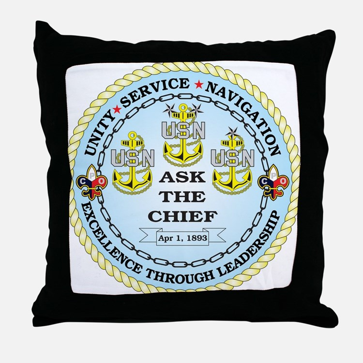 US Navy Chief Throw Pillow
