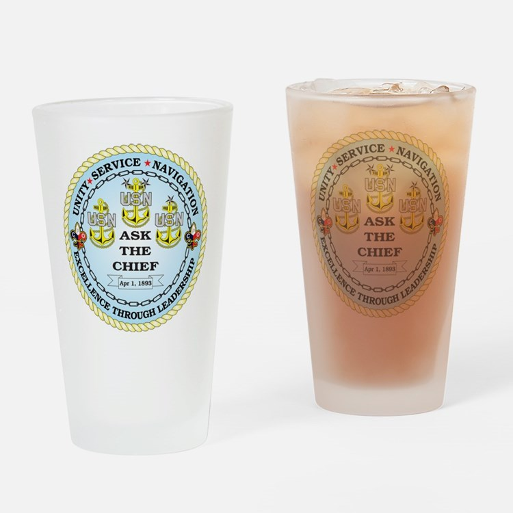 US Navy Chief Drinking Glass