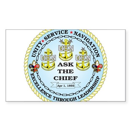 US Navy Chief Sticker (Rectangle)