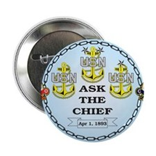 """US Navy Chief 2.25"""" Button"""
