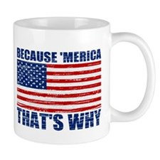 BECAUSE MERICA THATS WHY Mug