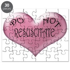 Do not Resuscitate Pink Heart Puzzle