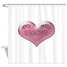Do not Resuscitate Pink Heart Shower Curtain