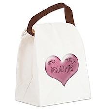 Do not Resuscitate Pink Heart Canvas Lunch Bag