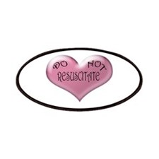 Do not Resuscitate Pink Heart Patches