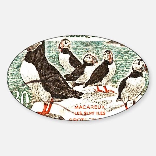 Cute Atlantic puffin Sticker (Oval)