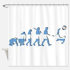 Argentinian Soccer Evolution Shower Curtain