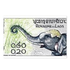 Cute Elephant with Postcards (Package of 8)