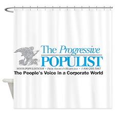 Progressive Populist Shower Curtain