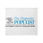 Progressive Populist Throw Blanket