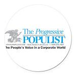 Progressive Populist Round Car Magnet