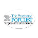 Progressive Populist Oval Car Magnet