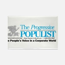 Progressive Populist Rectangle Magnet