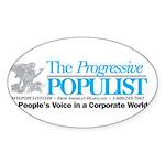 Progressive Populist Sticker (Oval 10 pk)