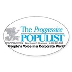 Progressive Populist Sticker (Oval)