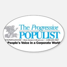 Progressive Populist Sticker (Oval)