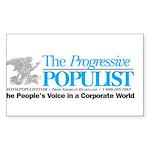 Progressive Populist Sticker (Rectangle)
