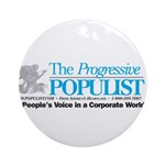 Progressive Populist Ornament (Round)