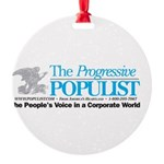 Progressive Populist Round Ornament