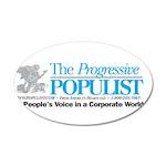 Progressive Populist 35x21 Oval Wall Decal