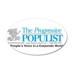 Progressive Populist 20x12 Oval Wall Decal